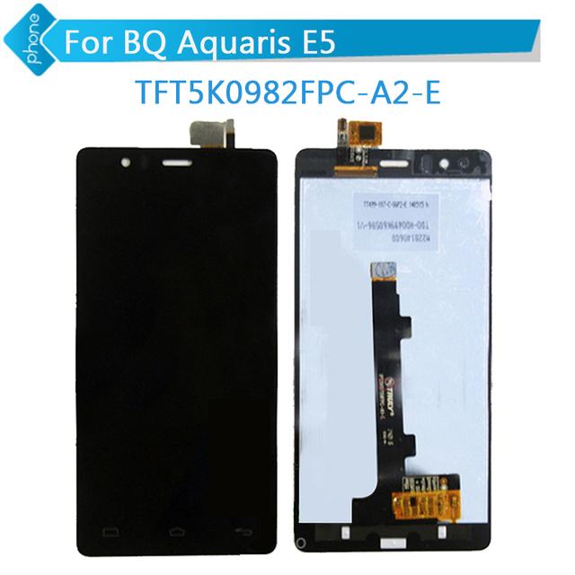 Tft5k0982fpc-a2-e versión para bq aquaris e5 pantalla lcd táctil digitalizador asamblea + código de seguimiento
