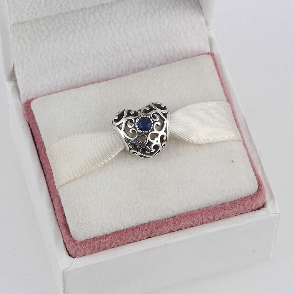 ZMZY 925 Sterling Silver Charms Beads Midnight Blue Moon and Star