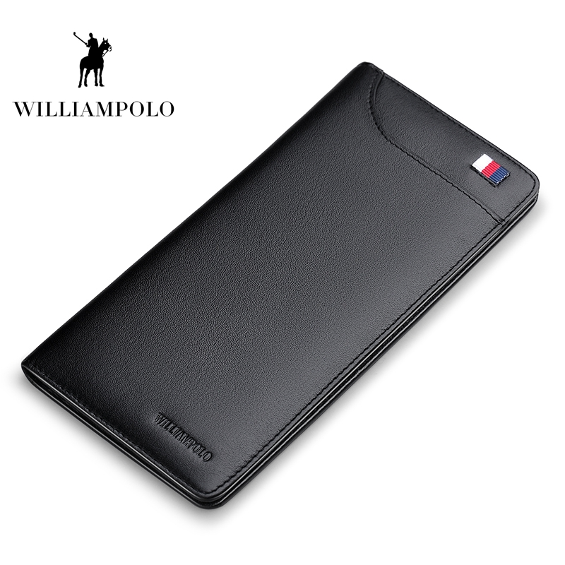 WILLIAMPOLO 2019 Fashion Leather Ultrathin Card Wallet Clutch Bag Credit Card Holder Men Multi Card Case