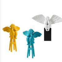 Cute Angel Resin Craft Home Decoration Angel Figurine Ornament Household Furnishing Adorn Angels Home Decor Desk Decor