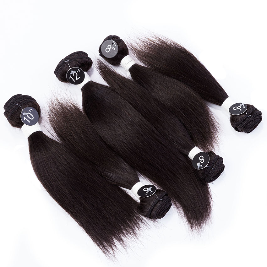 Set for Full Head Hair Products Silky Straight Brazilian Human hair ...