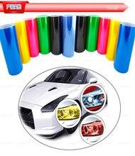 무료 배송 30*100 cm 자동차 필름 자동차 led 헤드 라이트 보호 필름 자기 접착 비닐 포장 스티커 자동차 스타일링