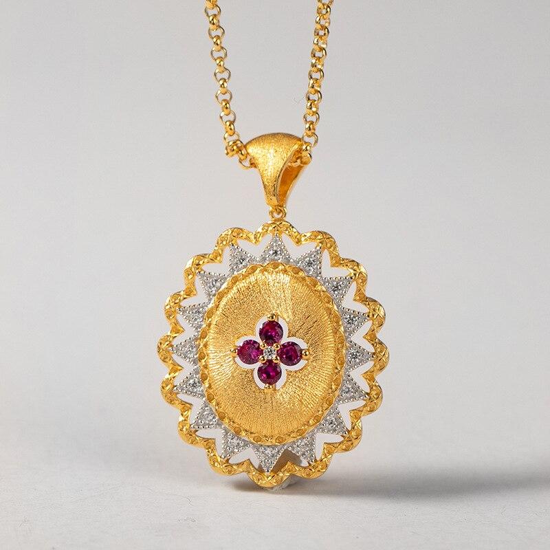 Bijoux en argent Sterling CMajor 5A Zircon cubique artisanat italien pendentif Vintage colliers cadeau pour les femmes