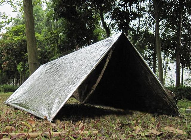Bushcraft Tactical Survival gear emergency shelter first aid tent WaterProof blanket