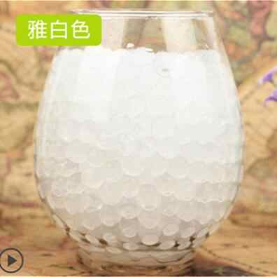 100Pcs white Crystal Mud Hydrogel Crystal Soil Outdoor Water Beads Vase Soil bonsai plant Grow Magic Balls Kid's Toy Decorati
