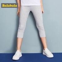 Balabala girls summer leggings pants for children Girls trousers children clothes Soft Slim Calf length Pants For lovely girls