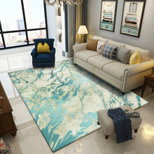 Fashion Nordic Imitation Bronzing Green marble Door mat Bedroom living room bedside rug abstract plush printing non-slip carpet