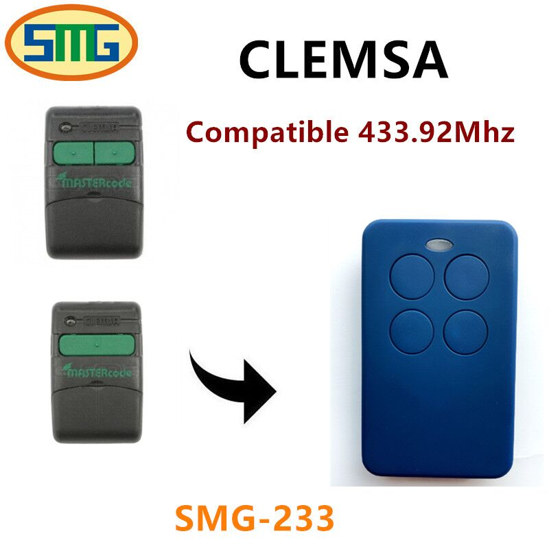 CLEMSA replacement clone rolling code 433.92mhz remote control free shipping