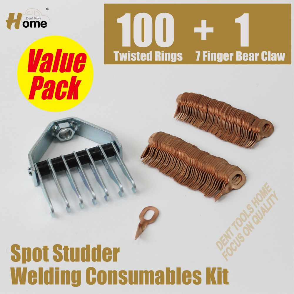 Spotter Stud Pulling System - 1pc Dent Claw + 100pc Twisted Pulling Pads    SS-101TL  цены