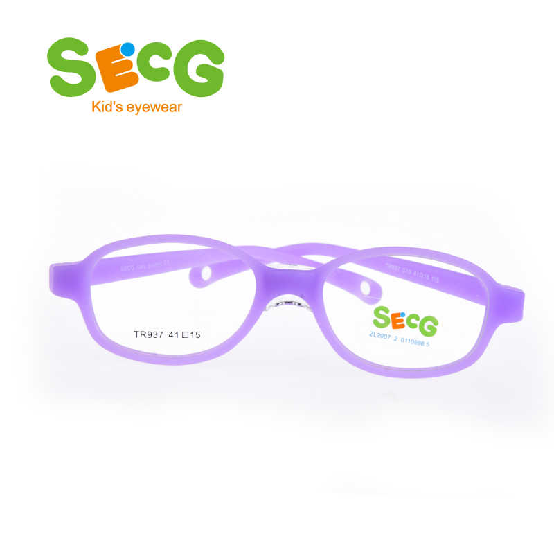SECG Children Frame Flexible Soft Comfortable Nose Pads Kids Optical Glasses Frame Hyperopia Myopia Silicone Gafas Prescription