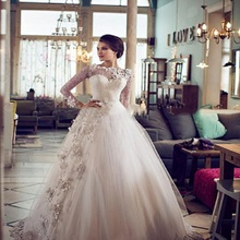 TPSAADE Ball Gown Wedding Dress Full Sleeve Gowns