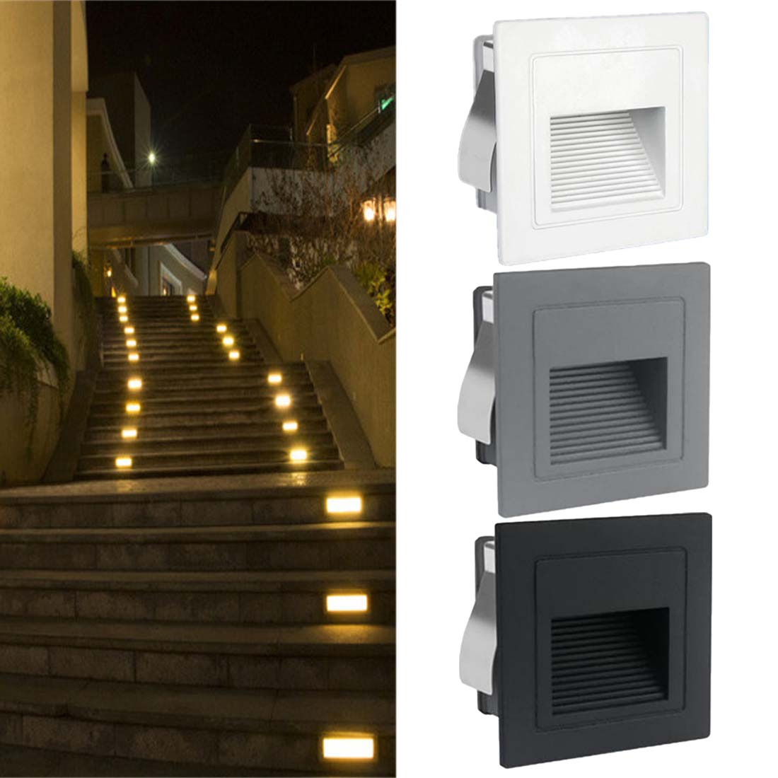 Lighting Basement Washroom Stairs: Recessed Steps Ladder Wall Lamps 1pc Indoor PIR Motion