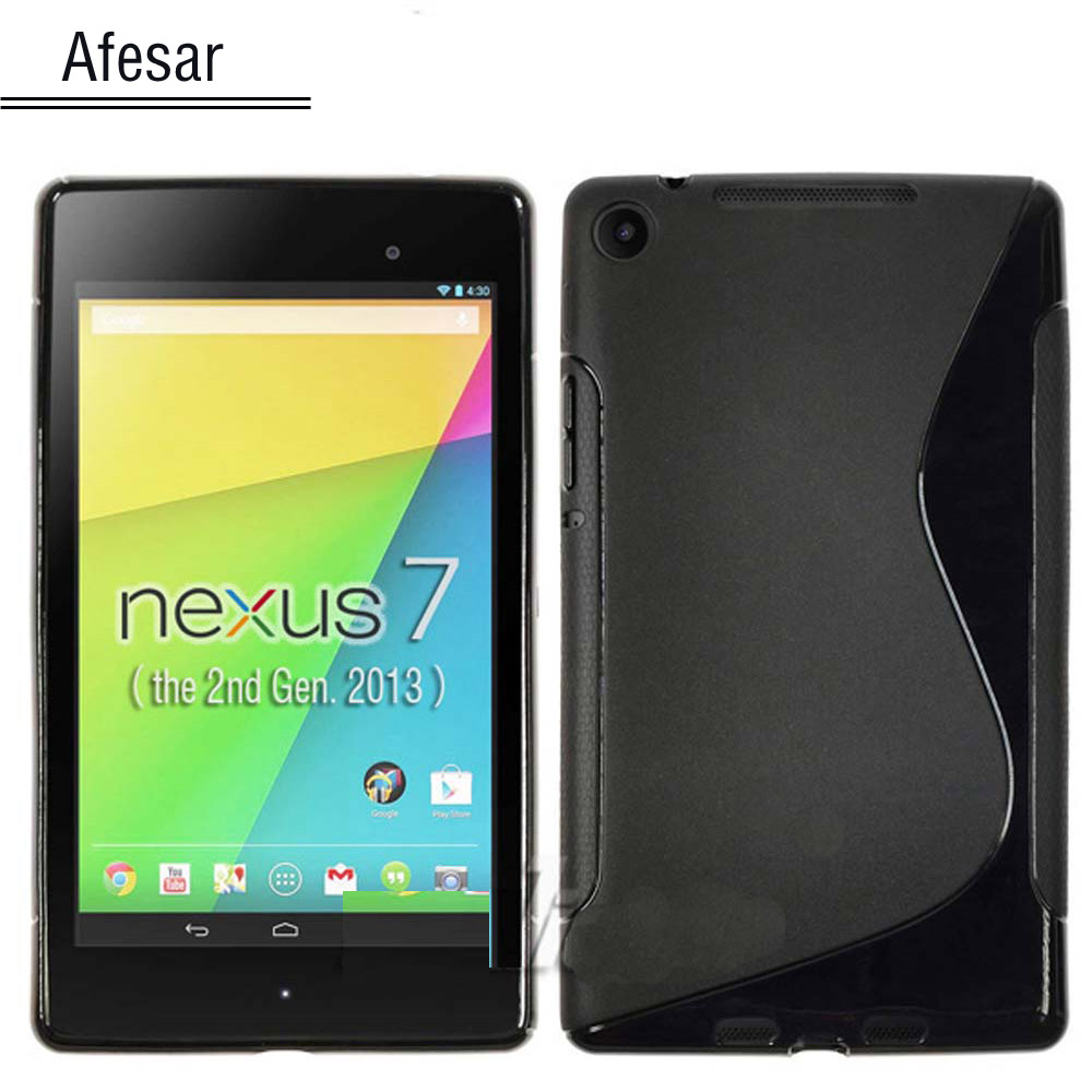 Nexus 7 2013 TPU case -  for New Google Nexus 7 2013 FHD 2nd Tablet pouch silicon cover funda (Not for Nexus 7 1st ) high quality x line tpu case cover skin soft gel for google nexus 7 ii 2 2013 2nd 2 generation free shipping