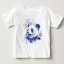 T Shirt girl 2020 Summer Fashion Cotton Panda Prints Short Sleeve O-Neck T-shirt White Tops Shirt children summer Short sleeve cotton fashion t shirt crew neck eye snake king short sleeve tall mens t shirt