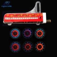 Zyklus Zone 32 Muster 16 LED Fahrrad Rad Licht Fahrrad radfahren Feuer Ventil Räder Speichen Stahldrahtlampe Fahrrad zubehör