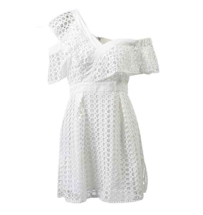 Женское сексуальное кружевное платье с коротким рукавом женское модное белое модное платье женское летнее вечернее платье