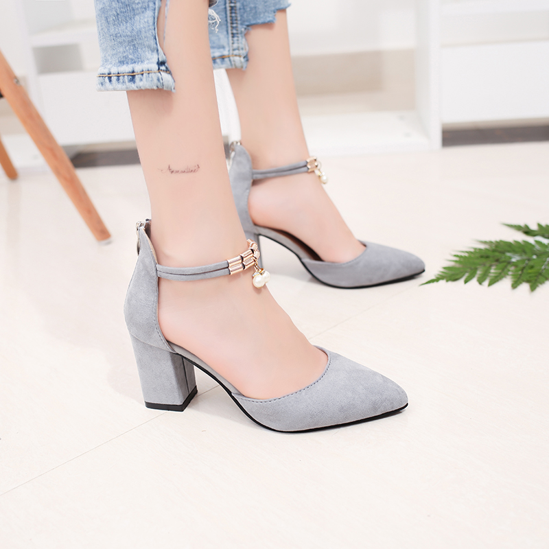 2018 Summer Women Shoes Pointed Toe Pumps  Dress Shoes High Heels Boat Shoes Wedding Shoes tenis feminino  Side with  1