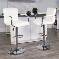 Taburete de Bar giratorio de 2 uds, moderno taburete de estilo europeo y americano, taburete alto de elevación, tabouret de Bar para el hogar, muebles HWC