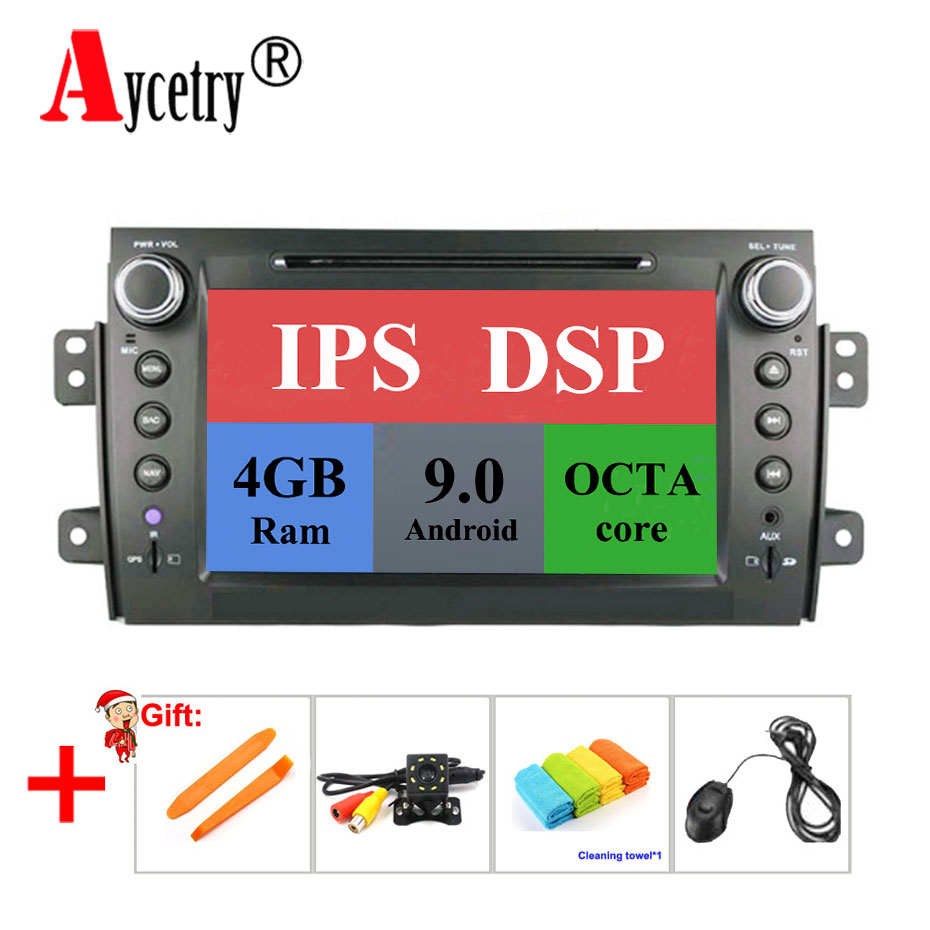IPS DSP 4G 8 core 2 din Android 9 car dvd multimedia player GPS for Suzuki