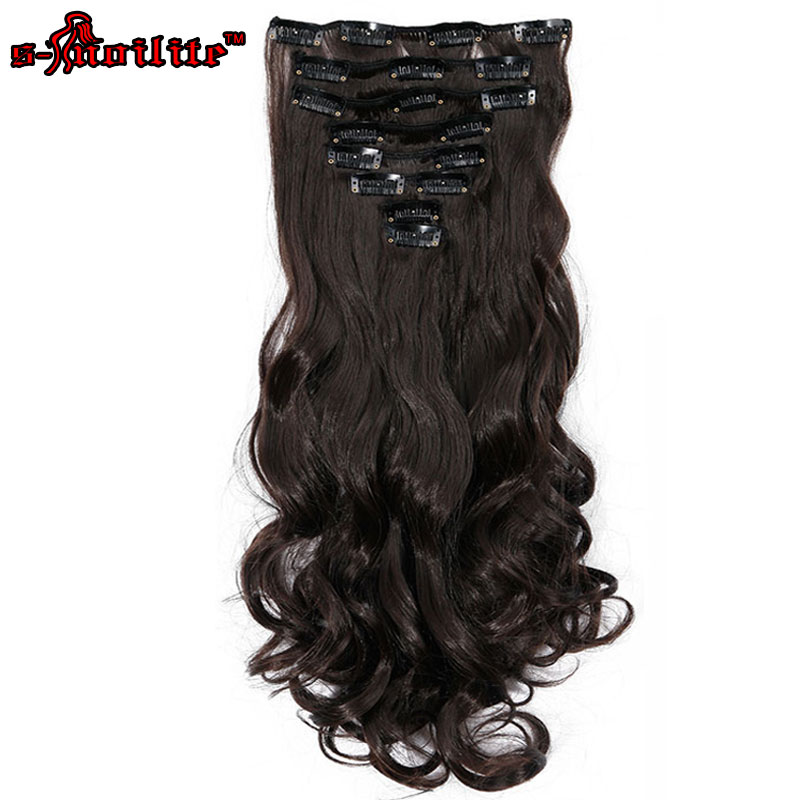 styling synthetic hair extensions snoilite 8pcs set 24inch 180g curly 18 in hair 3628