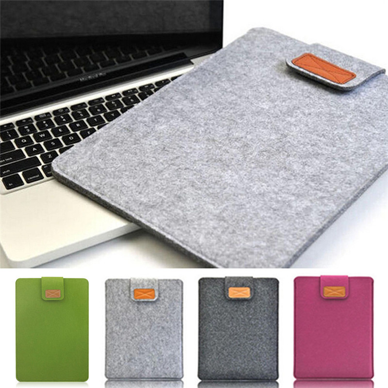 Soft Felt Laptop Sleeve Bag Case For Apple Macbook Air Pro Retina 11 13 inch Notebook Pouch Bag Ultrabook Tablet Case Cover