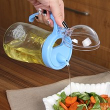 The kitchen multifunctional oil 550ML oil bottle with cover glass pot health free shipping все цены
