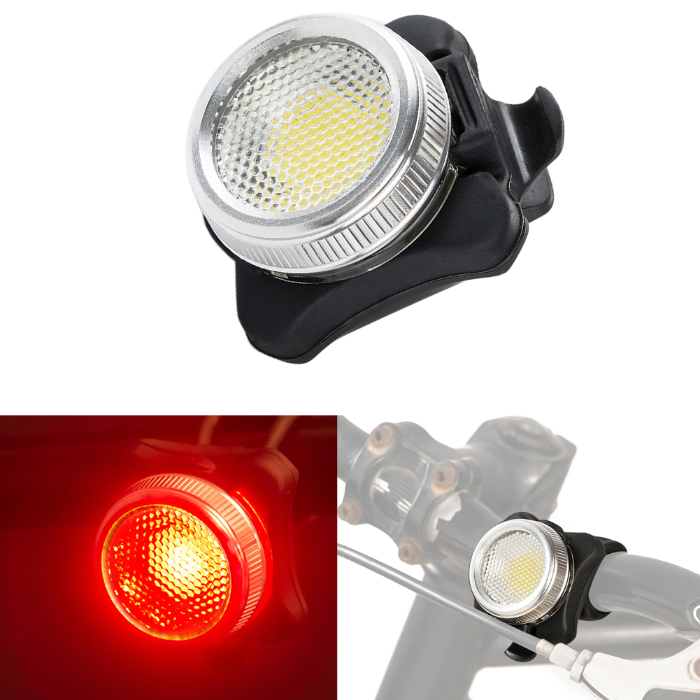 MTB Road Bike 3 COB LED Front Rear Light Bicycle Head Tail light USB Rechargeable 4 Modes Bicycle Tail Rear Warning Lights