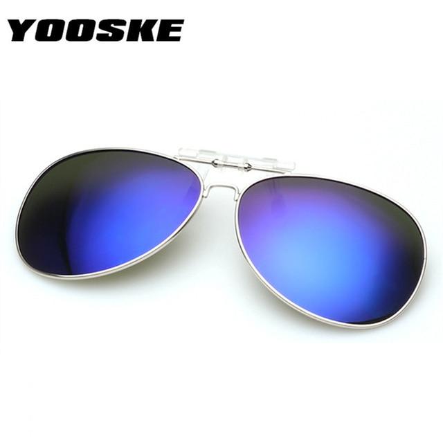 dd316b31885 YOOSKE Polarized Clip on Sunglass Men Women clip on Myopia Glasses Mirror  UV400 clip Sun Glasses