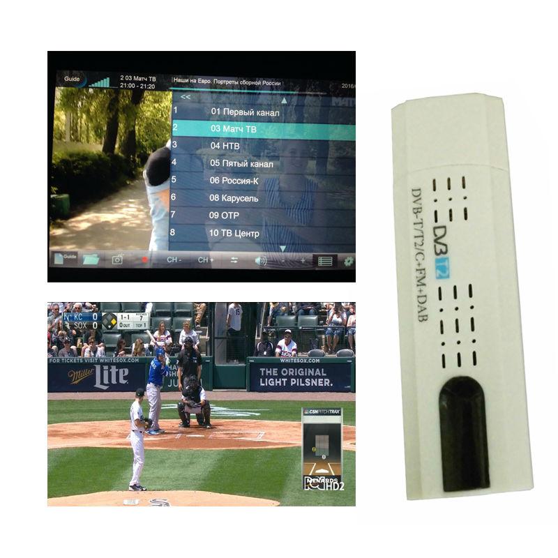 Digital TV DVB T2 USB Stick Tuner me antenë Remote Control USB2.0 - Audio dhe video në shtëpi - Foto 3