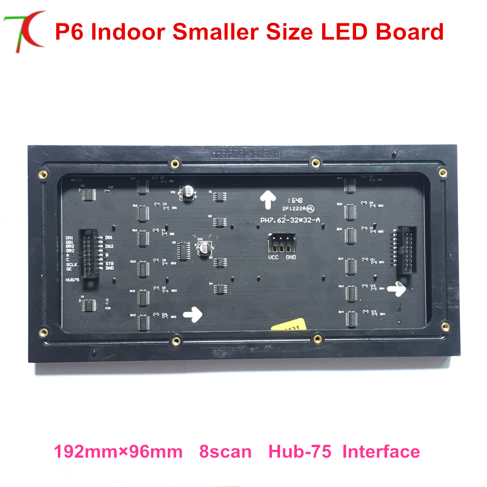 Manufacturer Sales Customizable 192mm*96mm P6 Indoor  Full Color Led Board Smaller Size Led Panel Led Display