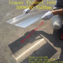 Большие линейные линзы Френеля квадратные линзы 500*500 мм линза Френеля фокусное расстояние 500 мм Солнечный сбор