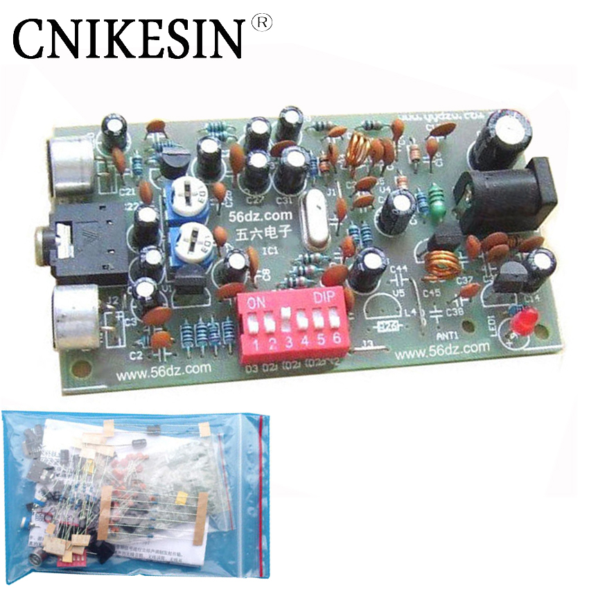 CNIKESIN DIY BH1417F FM stereo transmitter Board Kit electronic production 1417 FM transmitting board of DIY electronic suite