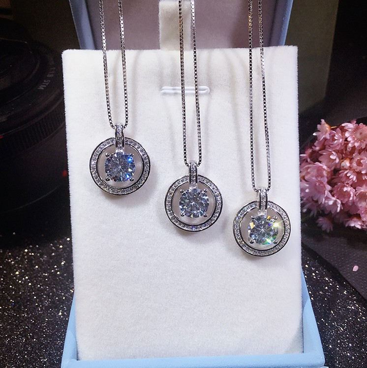 Fashion Classic micro temperament chain necklace Crystals from Swarovski female hanging Woman Wedding jewelry