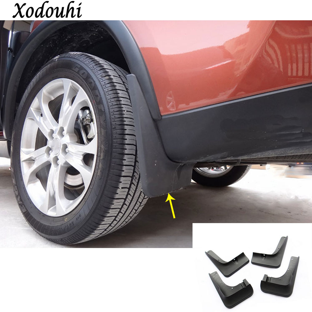 For Mitsubishi Outlander 2016 2017 2018 car styling plastic fender soft mudguard protection flap splash mud guard frame molding