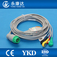 Schiller One piece 5 leads Patient Cable and IEC Snap Leadwires ECG Accessories With Free shipping