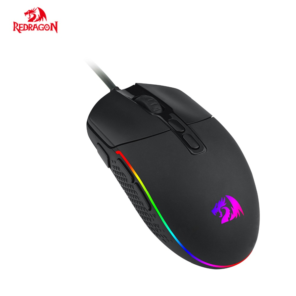 цена на Redragon M719 New Gaming Mouse USB Wired 5 DPI RGB backlighting 7 Programmable buttons for Gamer Office Computer Mice