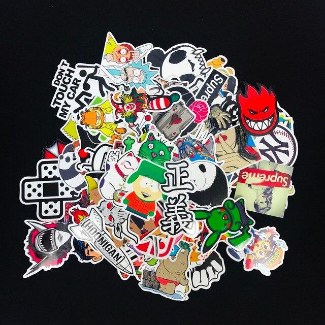 100 шт. случайный Водонепроницаемый наклейки животных логотип супер герой стикер бомба для скейтборда Автомобиль багажа ноутбук игрушка в подарок JDM