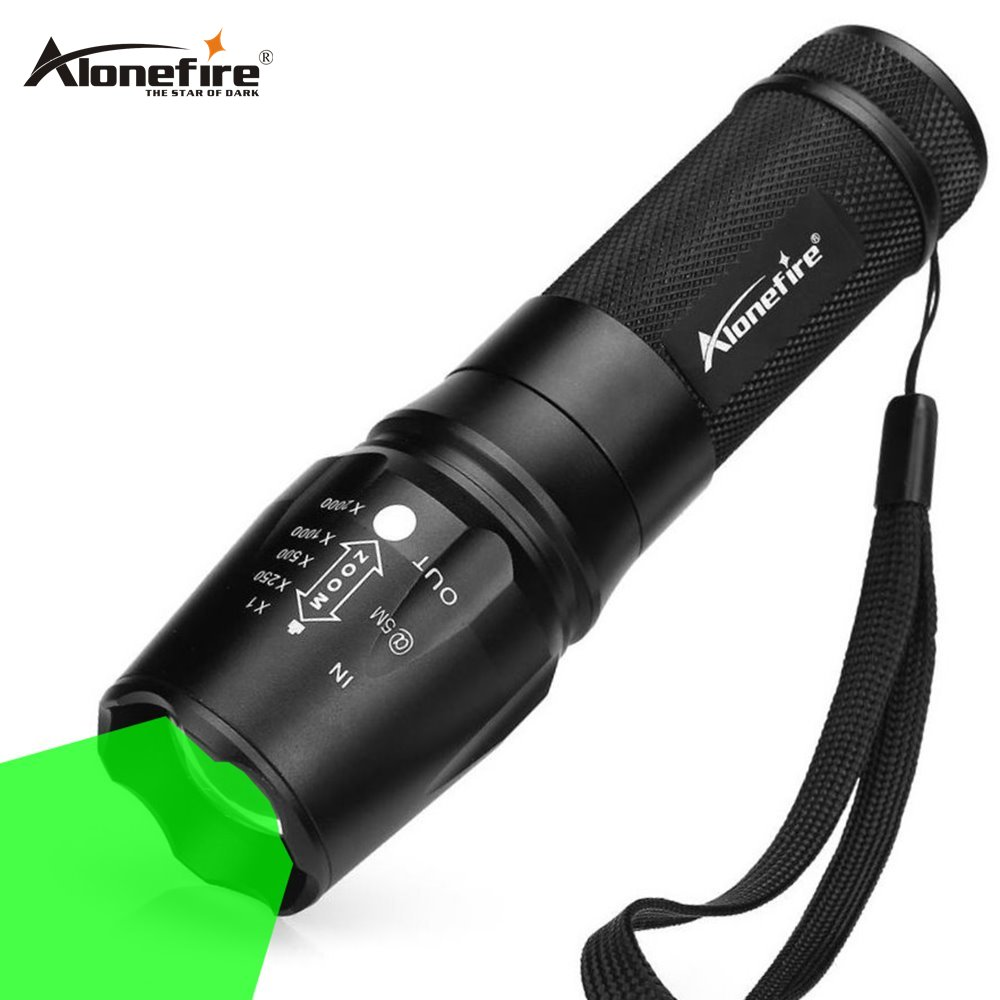 AloneFire X801 led green Flashlight Light Zoomable Tactical Torch Lamp Hunting flash lightAloneFire X801 led green Flashlight Light Zoomable Tactical Torch Lamp Hunting flash light
