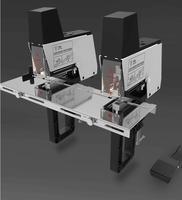 St100g prego duplo elétrico resistente nível elétrico grampear/stitchers sela  arquivos de papel grampeador automático