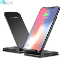 DCAE 10W Qi Wireless Charger For Samsung S9 S8 S7 Note 9 8 Fast Wireless Charging Dock For iPhone XS MAX XR X 8 Plus USB Charger