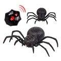Dois canais controle remoto aranha assustador wolf, robô aranha, novidade realista, reunião, halloween, férias, rc, brinquedos engraçados