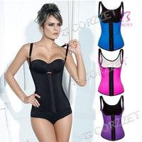 2010 Plus Size Corset Latex Waist Trainer Vest Steel Boned Corsets For Women Waist Control Slimming Body Shaper Shaperwear