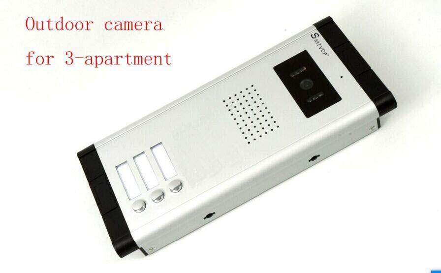 SMTVDP Apartment Video Door Phone Camera Intercom IR Night Vision Doorbell for 3 Units Apartment Suitable 3-Stories Building building stories