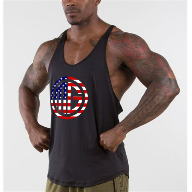 b7632ee7e84e7 Muscleguys Fitness Clothing Y Back Tank Top Men Bodybuilding Stringer Singlets  Mens Workout Shirt Gyms Vests Cotton Muscle Tank