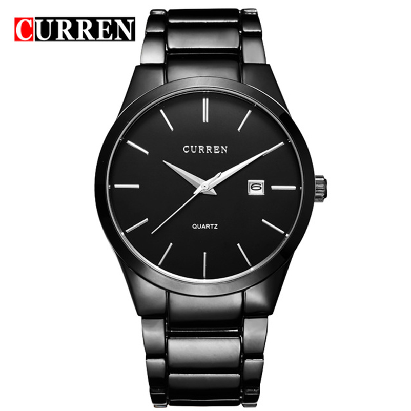 CURREN Luxury Brand Simple Fashion Casual Business Watches Men Date Waterproof Quartz Mens Watch Business Male Wristwatch 8106 fashion curren mens watches luxury brand high quality leather business quartz watch men waterproof wristwatch relogios masculino
