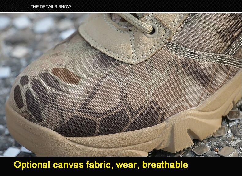 Selva Camuflagem Dos Homens De Treinamento Respirável Sapatos Altos