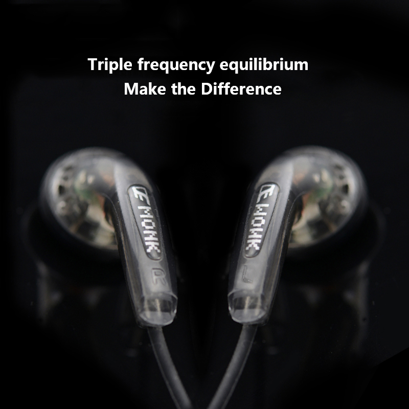 10PCS Original MONK Plus Earphone Flat head Earbuds Stereo Super bass Headset For iPhone 6s Xiaomi PC MP3 MP4 Music Player 5piece 100% new max17017gtm max17017 qfn chipset