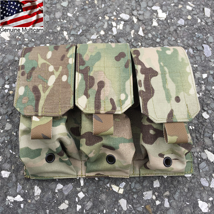 Genuine Multicam Triple M4 Magazine Pouch Molle 5 56 Mag Pouch Military Hunting Airsoft Gear XTC051139