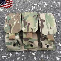 Genuine Multicam Triple M4 Magazine Pouch Molle 5.56 Mag Pouch Military Hunting Airsoft Gear(XTC051139)