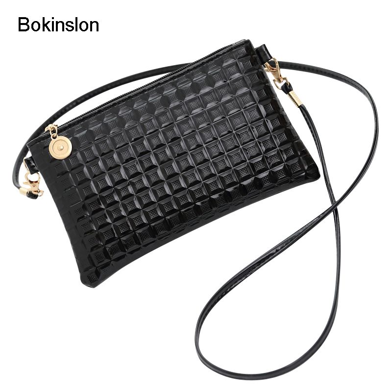Bokinslon Shoulder Bags Woman Fashion PU Leather Women Hand Wallets Small Fresh Solid Co ...